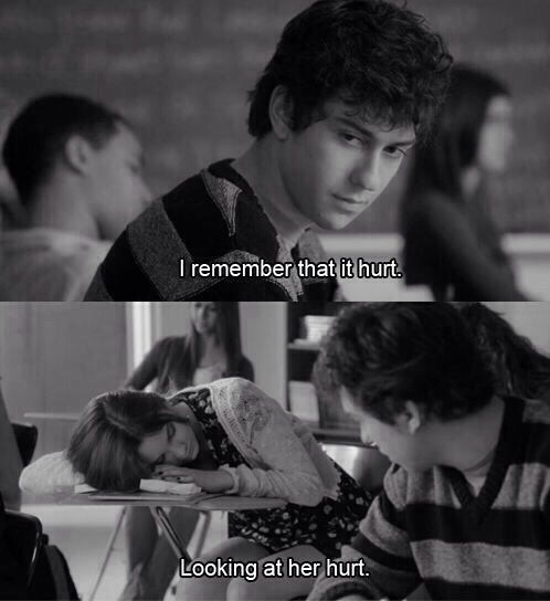 looking at her hurt stuck in love