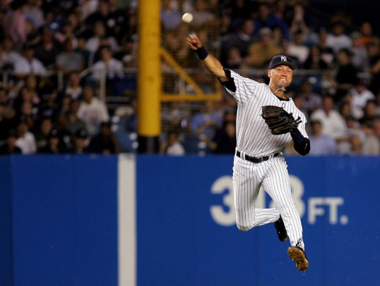 Classic Jeter Jump Throw from Deep Short